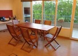 Mesa extensible con sillas Nuva