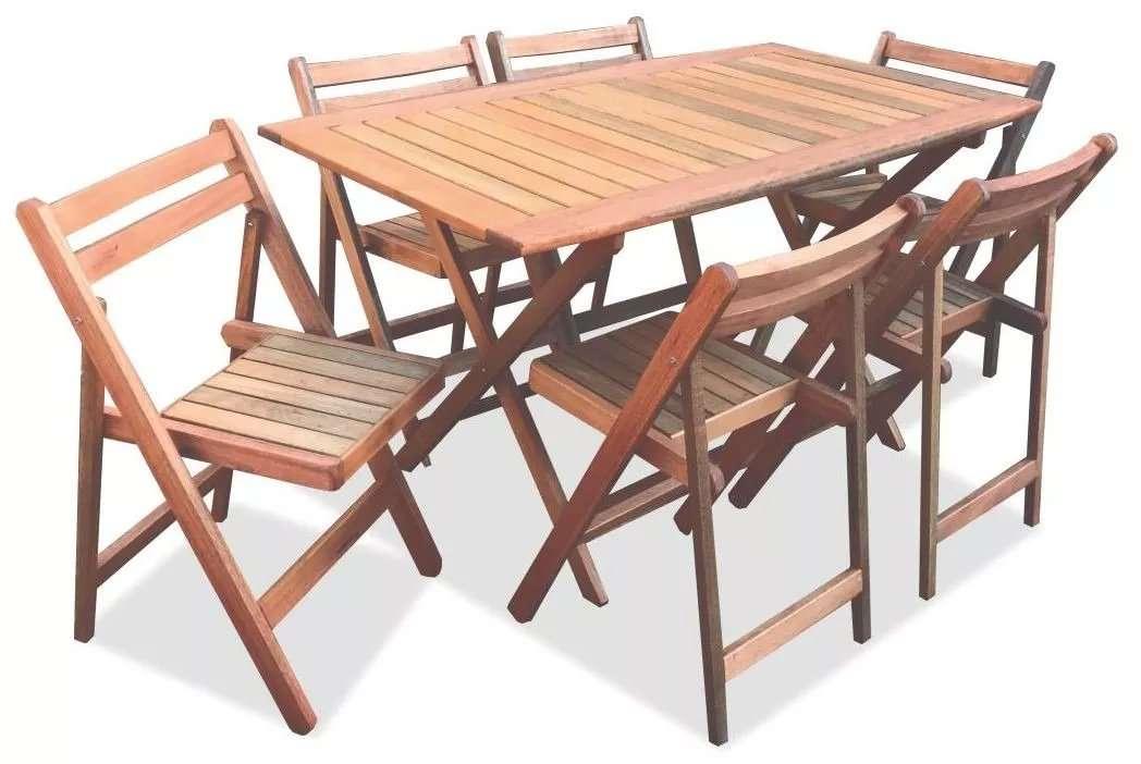 Juego de 6 sillas dr y mesa plegable fabrica de muebles - Mesas de madera plegables para exterior ...