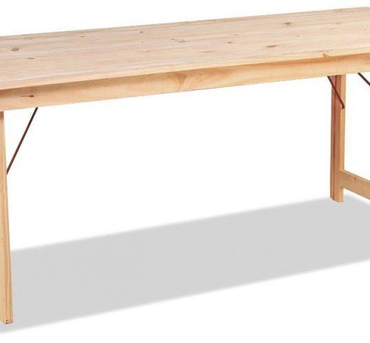 Mesa plegable 2x0,75mts